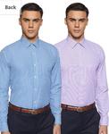 (All Sizes) (Pack of 2) Amazon Brand - Symbol Men's Regular fit Formal Shirt Rs.369/-