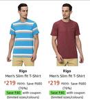 (All Sizes) Rigo Men's Tshirt Rs.179/-