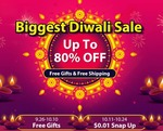 Biggest Diwali Sale: Upto 80% OFF | Free Shipping | Starting from $0.01