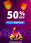 RAPIDO BIKE RIDE  : get 50% Off