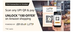 Amazon scan & pay offer: Scan any UPI QR & pay using Amazon pay  First transaction in OCTOBER (UNLOCK Rs.100 offer on Amazon shopping)