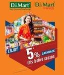 DMart 5% Cash Back for ICICI Bank Credit or Debit Card