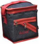 Lowest : GLEAM Navy Blue with Brown Lunch Bag