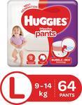 Huggies Wonder Pants Diaper - L  (64 Pieces)