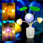 Sk Enterprises1 Mushroom Night Lamp Light with Switch Plastic Color Changing Electric LED 1 unit