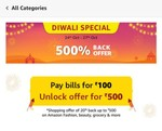 Get 700₹ cashback on 2000₹ Grocery purchase from amazon (Date 24-25the Oct 2019)[Account Specific]