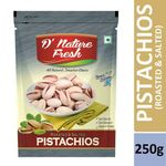 D'Nature Fresh Roasted Salted Pista Pack of 2 (250g + 250g) | FREE Shipping | Flat 20% OFF