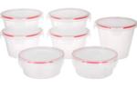 Solimo Plastic Kitchen Storage Container Set, 7-Pieces, Transparent