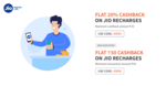 Flat 20% Cashback Up to Rs.25 on Jio Recharge [ Flat 50 on 50 For New User]