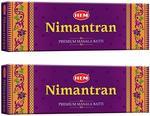 Hem Nimantran Incense Stick Pack of 2(12.4 cm x 9.4 cm x 24 cm, Brown)