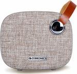 Zebronics Zeb-Knight Fabric Finish Portable BT Speaker with mSD, USB, FM, AUX, Mic & Fabric Finish (Brown
