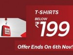 Red Zone - Up to 70% off on T Shirts Under Rs.199 [Till 6 Nov.]