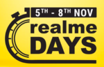 (Last day) Realme days ( 5th -8th November ) Extra 10% off on prepaid payment (on Realme X, Realme 3 variants )