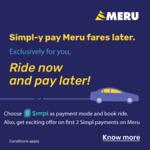 Get 50% Cashback upto 75₹ on your first 2 Simpl transaction ever on Meru