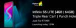 Launch Today Infinix S5 Lite 4GB || 64 G