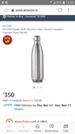 HI LUXE Double-Wall Thermos Flask, Vacuum Insulated Stainless Steel 500 ML Rs.350 @ Amazo