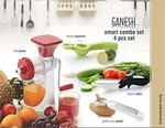 Ganesh Plastic Juicer Combo, 4-Pieces at Rs.546 @ Amazon
