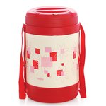 Cello Super Star Insulated 4 Container Lunch Carrier, Red
