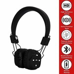 TM-022 Wireless Headphones Stretchable Foldable with Bluetooth and Inbuilt Microphone and SD Card Slot(Black)