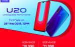 Vivo U20 6/64GB Sale At 12pm