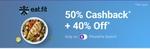 Eatfit - 50%cashback plus 40%off phonepe switch(25to30nov)