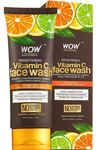 WOW Brightening Vitamin C Face Wash - No Parabens, Sulphate, Silicones & Color - 100mL Tube