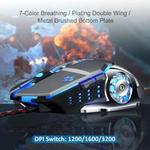 Xmate Zorro 3200DPI LED Backlight 6 Button Wired USB Gaming Mouse, Durable ABS Body for Gamers, 4 Color Breathing Lights, 1.5M Nylon Braided Cable