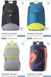 American Tourister Backpack from 490 Rs. only.