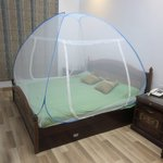 Healthgenie Foldable Double Bed Mosquito Net (Blue)