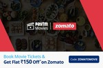 Book Movie Ticket and Get Zomato voucher of Rs 150