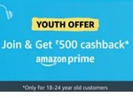 Back Again: One Year Amazon Prime At Rs. 499 [ 18 - 24 Year ]