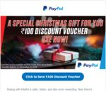 Paypal Sending 100 rs Voucher For Christmas