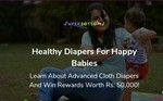 Learn about Advanced cloth diapering and get a chance to WIN REWARDS WORTH RS.50,000/