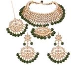 Jewels Traditional Kundan & Pearl Choker Necklace Set for Women