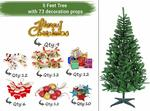 Christmas Tree for Home Office Decoration (5 Feet) with 73 Ornaments Tree Decorations Props - Xmas Tree