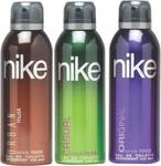 Prebook Nike Deodorant Spray - For Men  (600 ml, Pack of 3) @377
