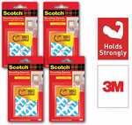 """Scotch Double Sided Foam Tape Pre-Cut Squares 1"""" 20 Nos (Pack of 4)"""