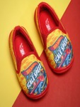 Hot Wheels Boys Yellow & Red Printed Slip-On Sneakers Flat 45% off