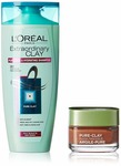 Amazon selling L'Oreal Paris Pure Clay Mask, Red Algae, 48g with Extraordinary Clay Shampoo, 175ml at Rs. 467 only with Subscribe & Save