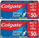 Colgate Strong Teeth Anticavity Toothpaste with Amino Shakti - 500gm (Pack of 2)