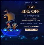 Firstcry 11 Mins @ 11 PM Flat 40% OFF on Everything