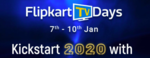 Flipkart TV Days ( 7th -10th January )10% Instant Discount with CC/DC/Net Banking/EMI options