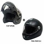 Pack of two Steelbird SB-41 Oska Flip Up Helmet (M) and SBH-2 Jack Full