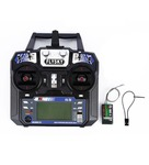 FlySky FS-i6 2.4G 6CH AFHDS RC Radio Transmitter With FS-iA6 Receiver for FPV RC Drone - Mode 1 (Right Hand Throttle)