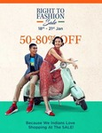 (Last day) Myntra Right To Fashion Sale Starting From 18th -21st Jan at Flat 50- 80% off