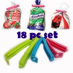 Generic Plastic Bag Sealing Clips, 18-Pieces,(Free Shipping)