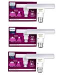 Philips T Bulb 7 Watt LED Bulb, Base B22 (Cool Daylight, Pack of 3)
