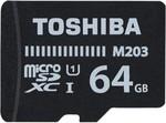 Toshiba M203 64 GB MicroSD Card Class 10 100 MB/s Memory Card