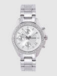 40% Off On Fossil Women Silver-Toned Chronograph Watch