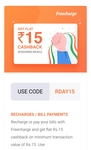 Freecharge Republic Day Recharge Promo Code (User specific)